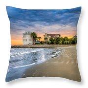 Breach Inlet Sunset Throw Pillow