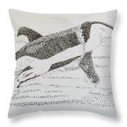 Breaching Orca Throw Pillow