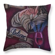 Bread And Wine Throw Pillow