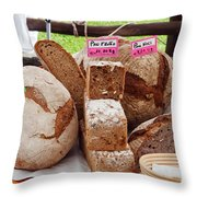 Bread On Local Market Throw Pillow