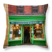 Bread Store New York City Throw Pillow