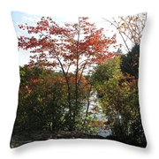Break At Breakheart Throw Pillow