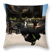 Break Dancer  Columbus Circle Throw Pillow