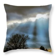Break In The Storm Throw Pillow