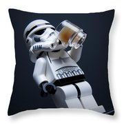 Break Time Throw Pillow by Samuel Whitton