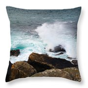 Breakers And Rocks Throw Pillow
