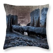 Breakers At Whitefish Point Michigan Throw Pillow