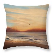 Breakfast At Five Thirty Throw Pillow