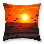 Breakfast By The Seaside Throw Pillow