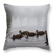 Breakfast For The Juveniles Throw Pillow