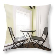 Breakfast Nook In Rustic House Throw Pillow by Elena Elisseeva