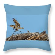 Breakfest Time Throw Pillow