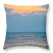 Breaking Blue  Throw Pillow
