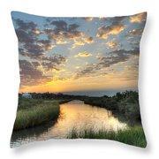 Breaking Dawn Along The Bayou Throw Pillow