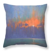 Breaking Sky I Throw Pillow