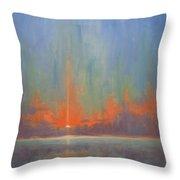 Breaking Sky II Throw Pillow