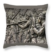Breaking The Advance.  State Of Delaware Monument Detail-l1 Gettysburg Autumn Mid-day. Throw Pillow