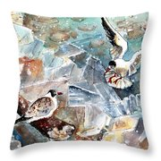 Breaking The Ice On Lake Constance Throw Pillow