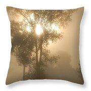 Breaking Through The Fog Throw Pillow