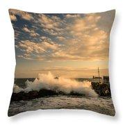 Breaking Waves Iv Throw Pillow
