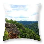 Breaks Interstate Park Virginia Kentucky Rock Valley View Overlook Throw Pillow