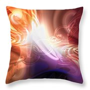Breakthrough Throw Pillow by Mo T