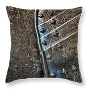 Breast Plate From The French Monarchy Throw Pillow