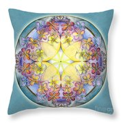 Breath Of Life Mandala Throw Pillow