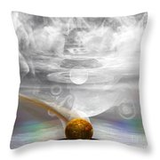 Breathing Life Into A Planet Throw Pillow by Peter R Nicholls