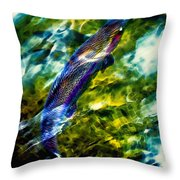 Breathing Water Throw Pillow