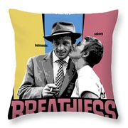 Breathless Movie Poster Throw Pillow