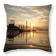 Breathless Reflections On The Beach Throw Pillow