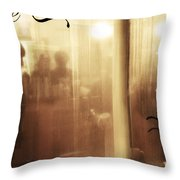 Breaths In The Rain Throw Pillow