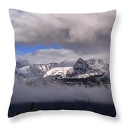 Breckenridge And Clouds  Throw Pillow