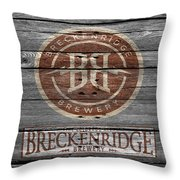 Breckenridge Brewery Throw Pillow