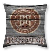 Breckenridge Brewery Throw Pillow