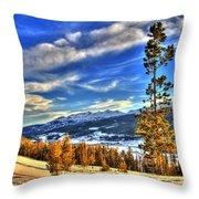 Breckenridge Skies Throw Pillow by Scott Mahon