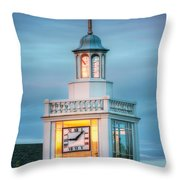 Brecksville Clock Tower Throw Pillow by Jenny Ellen Photography