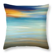 Breeze-seascapes Abstract Art Throw Pillow