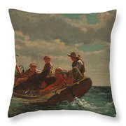 Breezing Up.a Fair Wind Throw Pillow