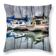 Breez'n Thru Throw Pillow by Heidi Smith