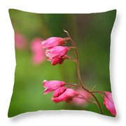 Breezy Coral Bells  Throw Pillow