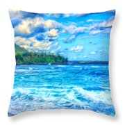 Breezy Hawaii Morning Throw Pillow