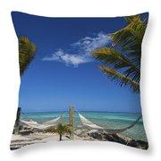 Breezy Island Life Throw Pillow by Adam Romanowicz