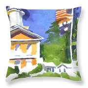 Breezy Morning At The Courthouse Throw Pillow