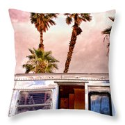 Breezy Palm Springs Throw Pillow