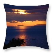 Brela Sunset Croatia Throw Pillow