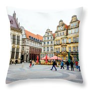 Bremen Main Square Throw Pillow