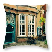 Bremen Schnoor Cafe Throw Pillow