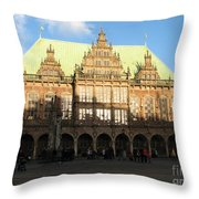 Bremen Town Hall Germany Throw Pillow